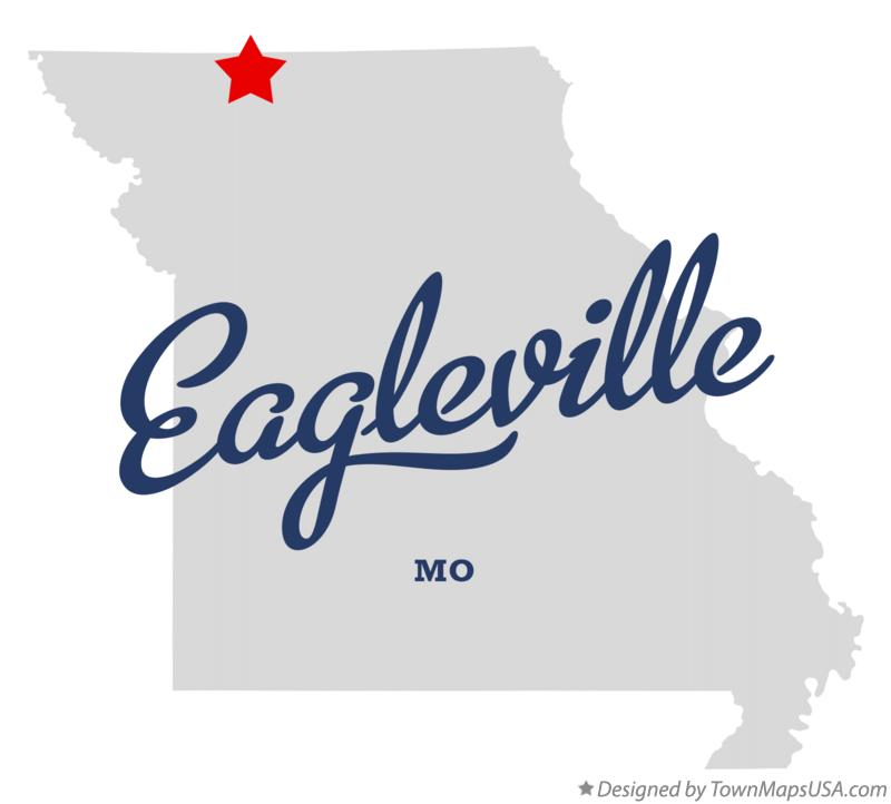 Map of Eagleville Missouri MO