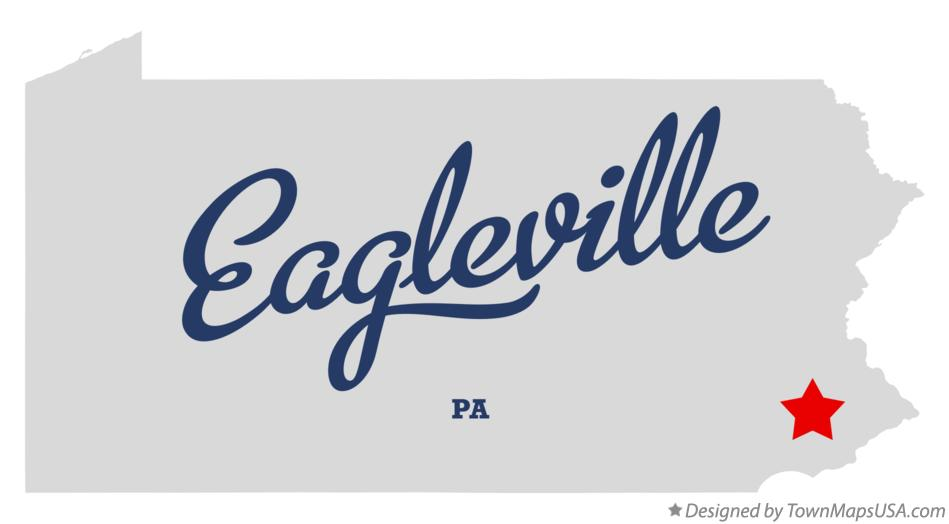 Map of Eagleville Pennsylvania PA