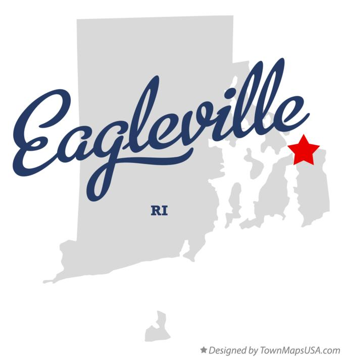 Map of Eagleville Rhode Island RI
