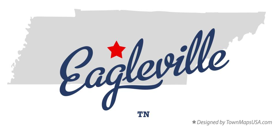 Map of Eagleville Tennessee TN