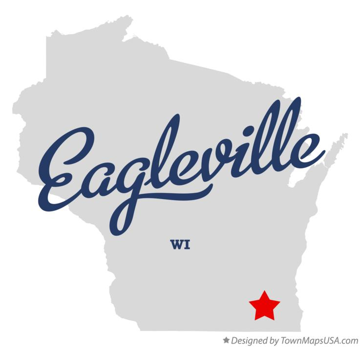Map of Eagleville Wisconsin WI