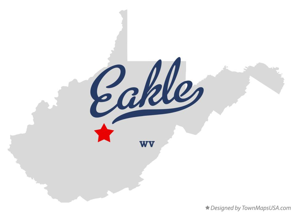 Map of Eakle West Virginia WV