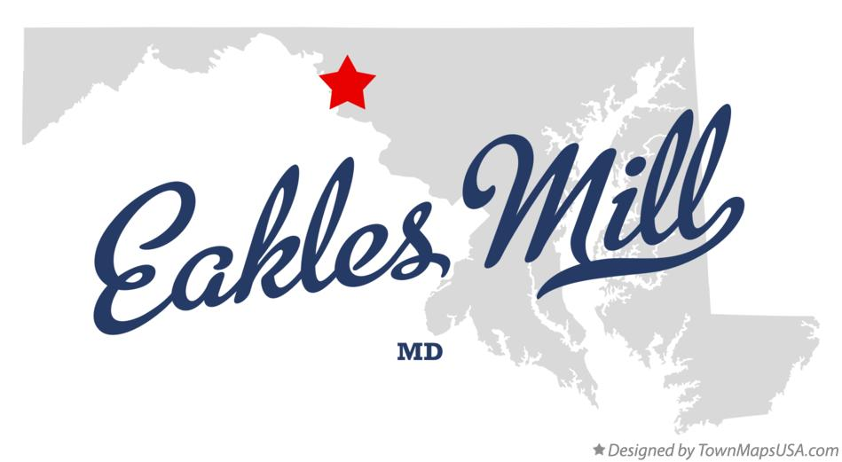 Map of Eakles Mill Maryland MD