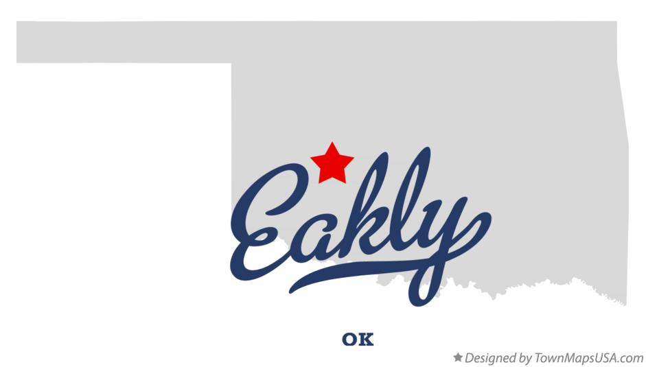 Map of Eakly Oklahoma OK