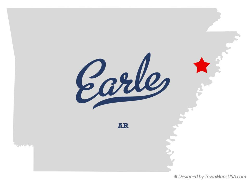 Map of Earle Arkansas AR