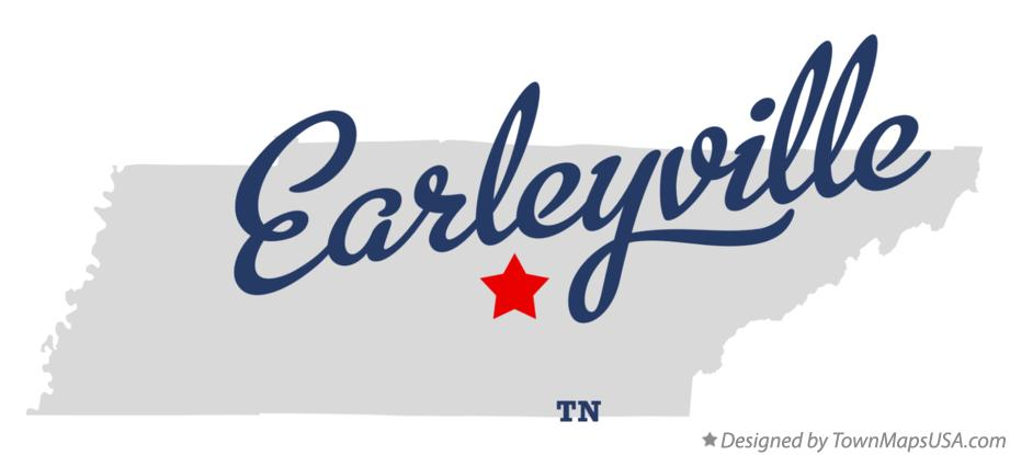 Map of Earleyville Tennessee TN