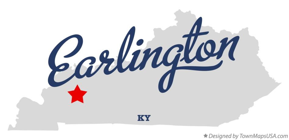 Map of Earlington Kentucky KY