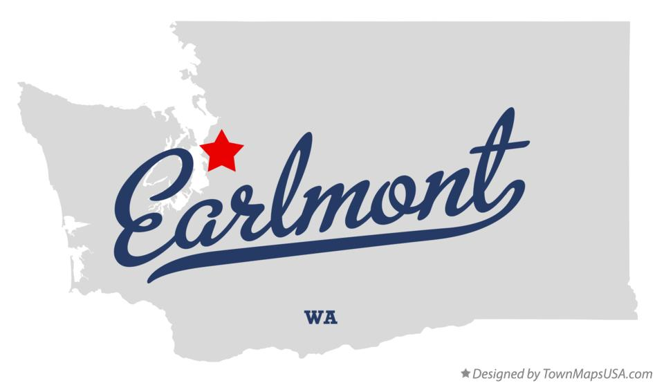 Map of Earlmont Washington WA