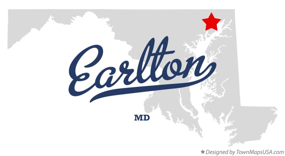 Map of Earlton Maryland MD