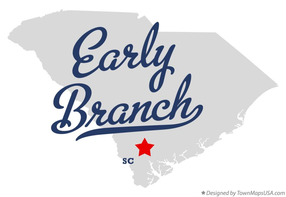 Map of Early Branch South Carolina SC