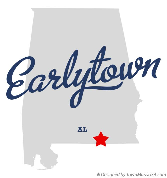 Map of Earlytown Alabama AL