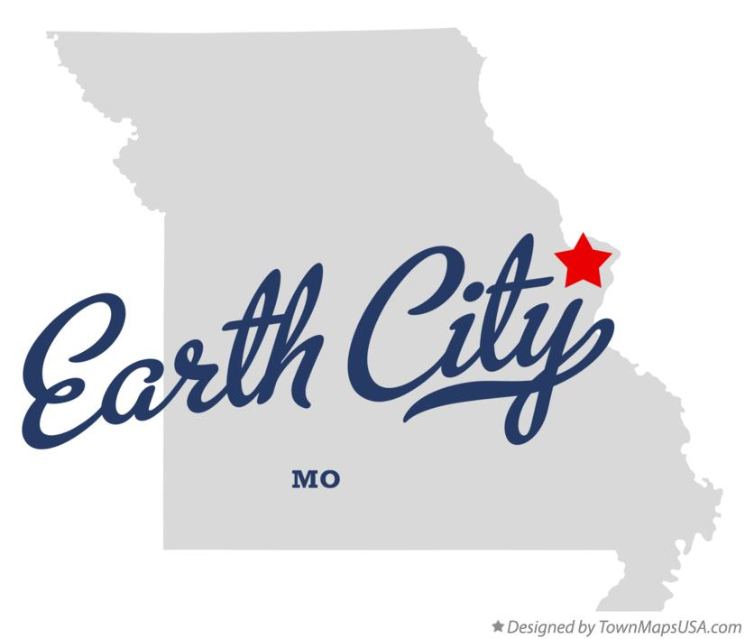 Map of Earth City Missouri MO
