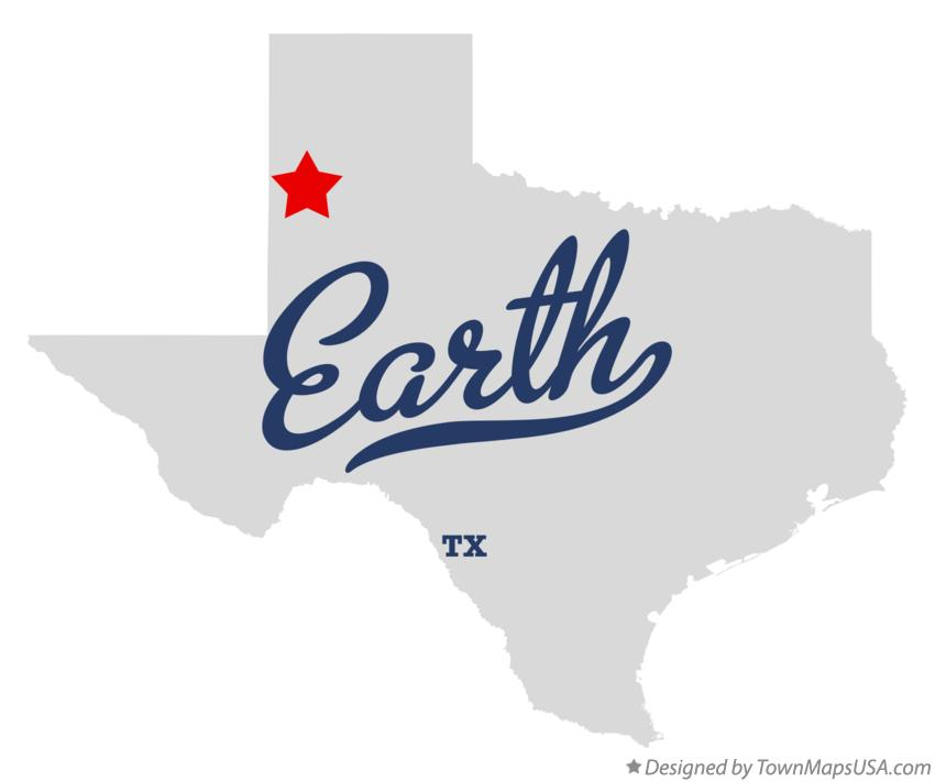 Map of Earth Texas TX