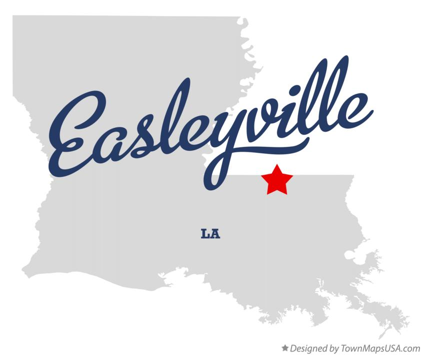 Map of Easleyville Louisiana LA