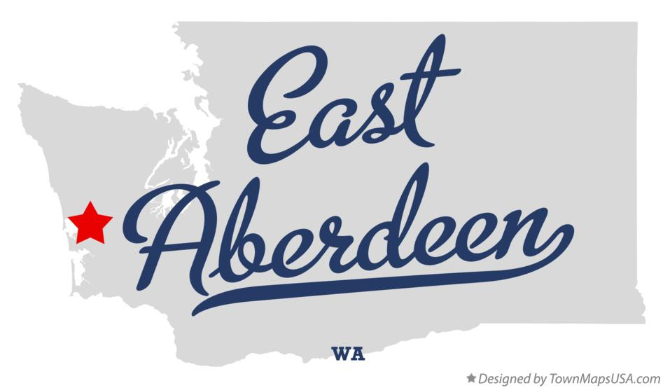 Map of East Aberdeen Washington WA