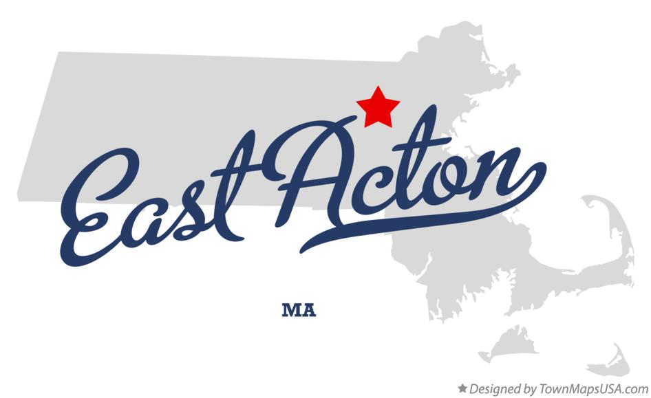 Map of East Acton Massachusetts MA