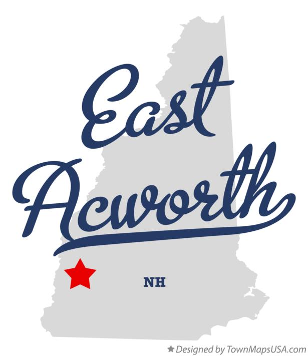 Map of East Acworth New Hampshire NH