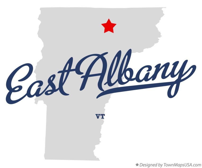 Map of East Albany Vermont VT
