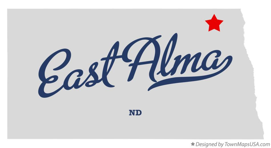 Map of East Alma North Dakota ND