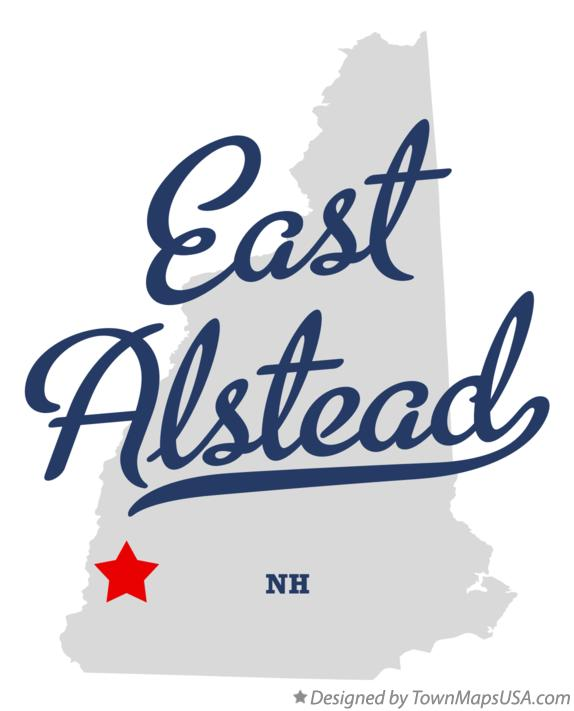 Map of East Alstead New Hampshire NH