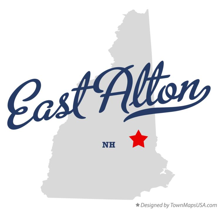 Map of East Alton New Hampshire NH