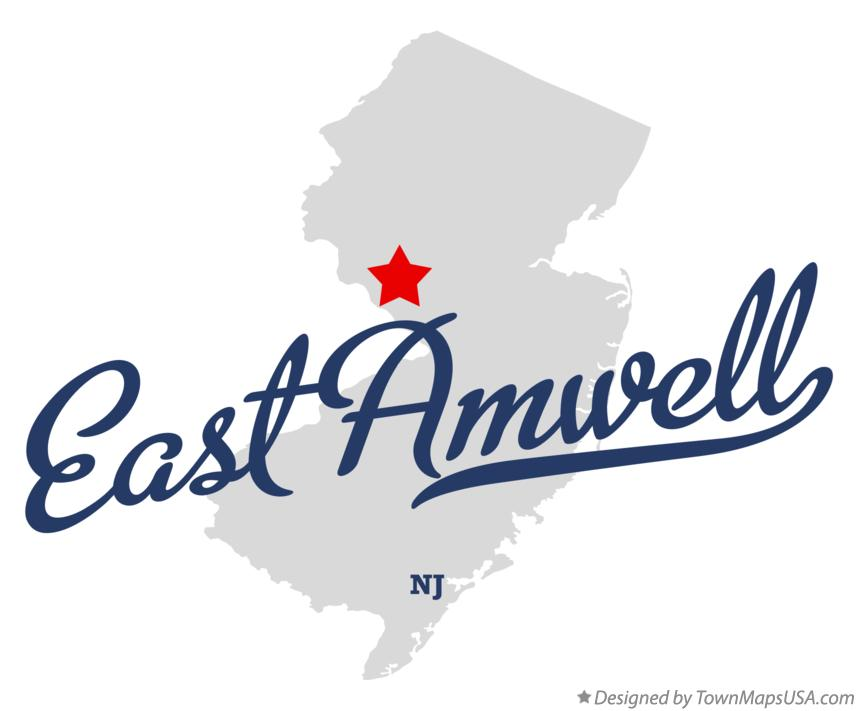 Map of East Amwell New Jersey NJ