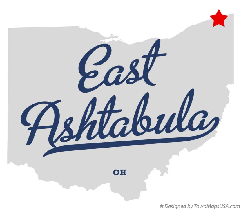 Map of East Ashtabula Ohio OH