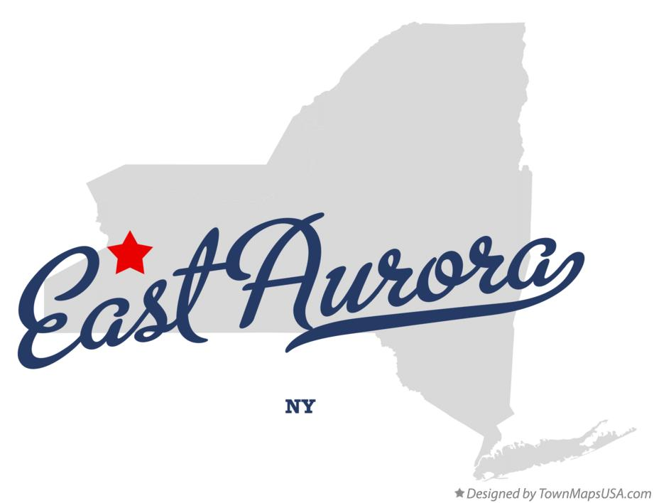 Map of East Aurora New York NY