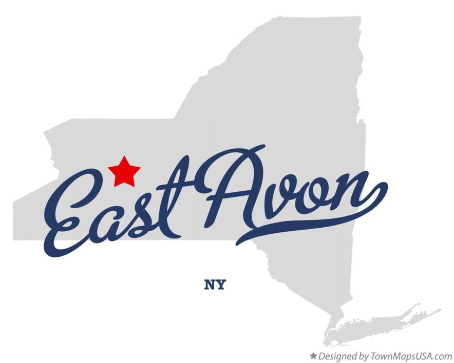 Map of East Avon New York NY