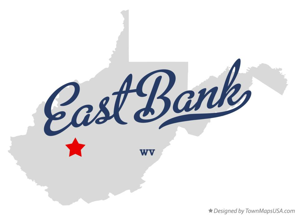 Map of East Bank West Virginia WV