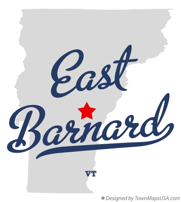 Map of East Barnard Vermont VT