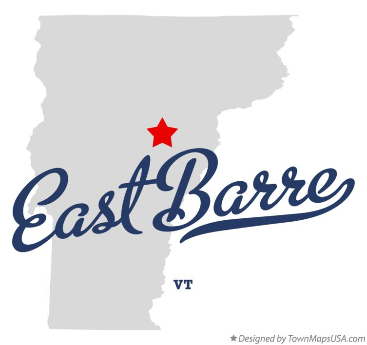 Map of East Barre Vermont VT