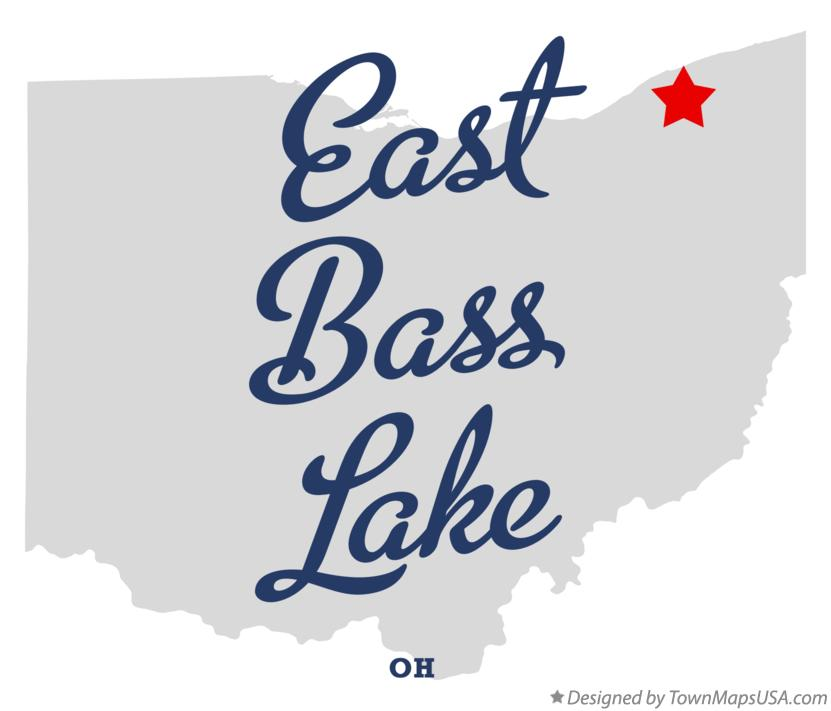 Map of East Bass Lake Ohio OH