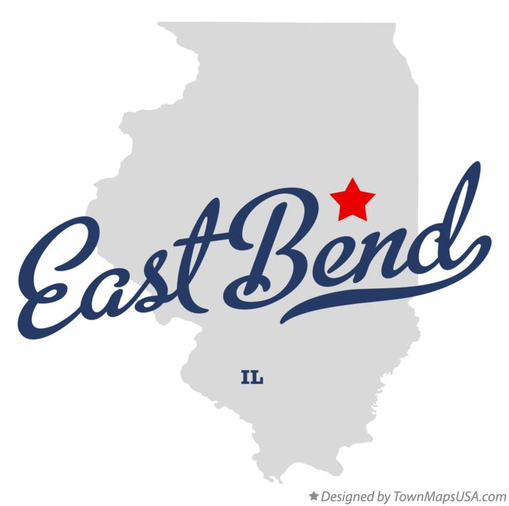 Map of East Bend Illinois IL
