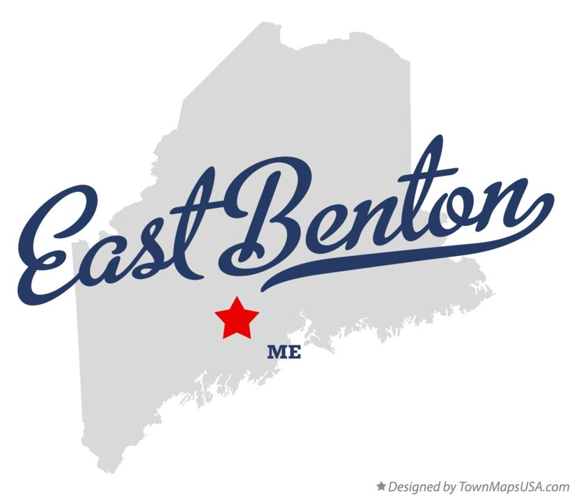 Map of East Benton Maine ME