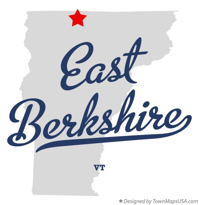 Map of East Berkshire Vermont VT