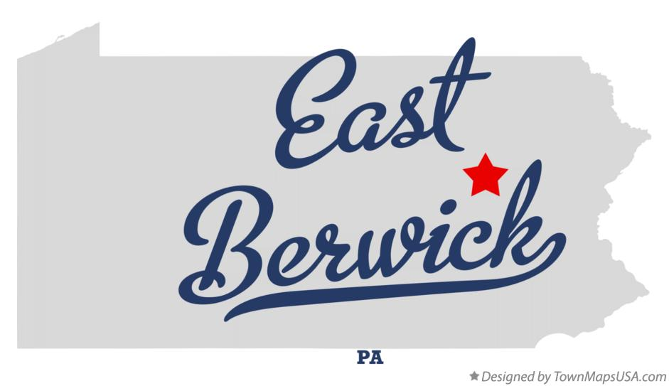 Map of East Berwick Pennsylvania PA