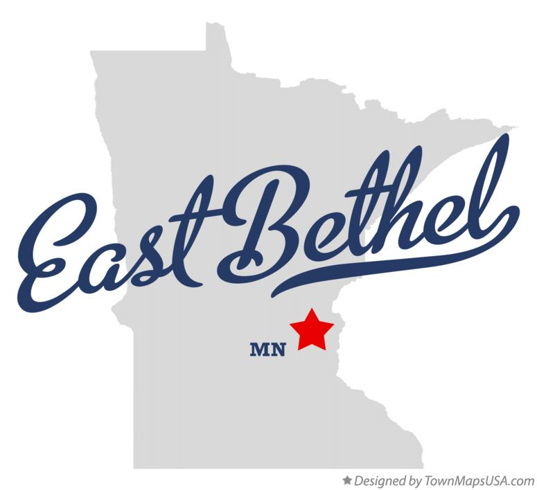 Map of East Bethel Minnesota MN