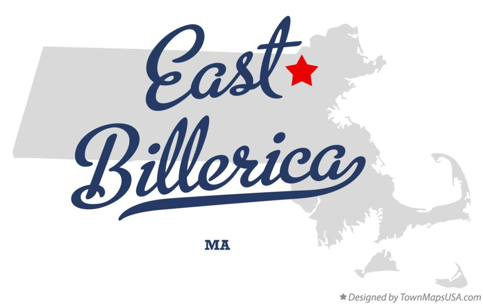 Map of East Billerica Massachusetts MA