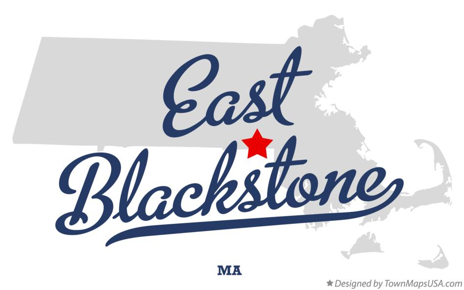 Map of East Blackstone Massachusetts MA