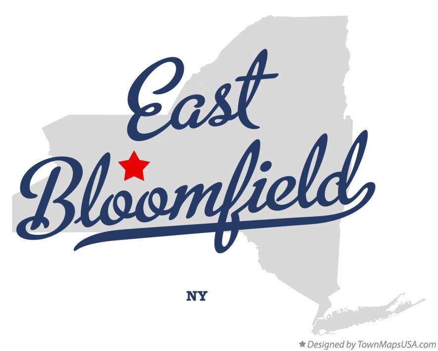 Map of East Bloomfield New York NY