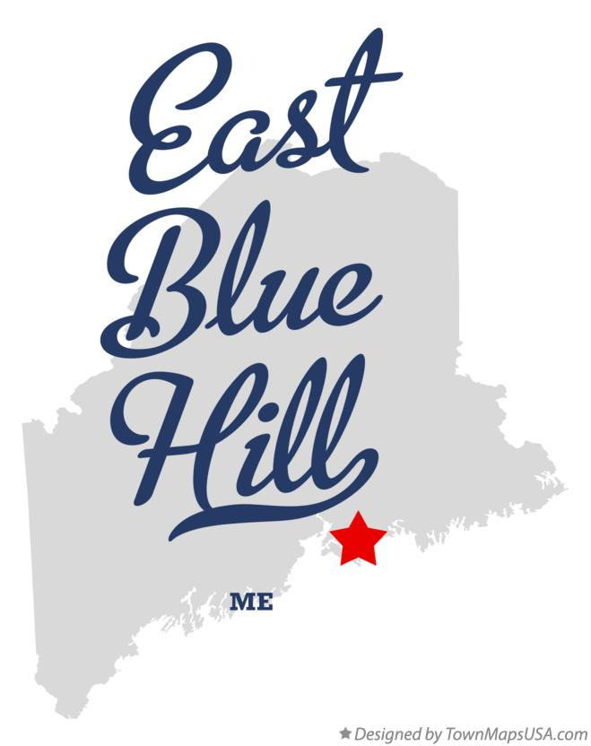 Map of East Blue Hill Maine ME