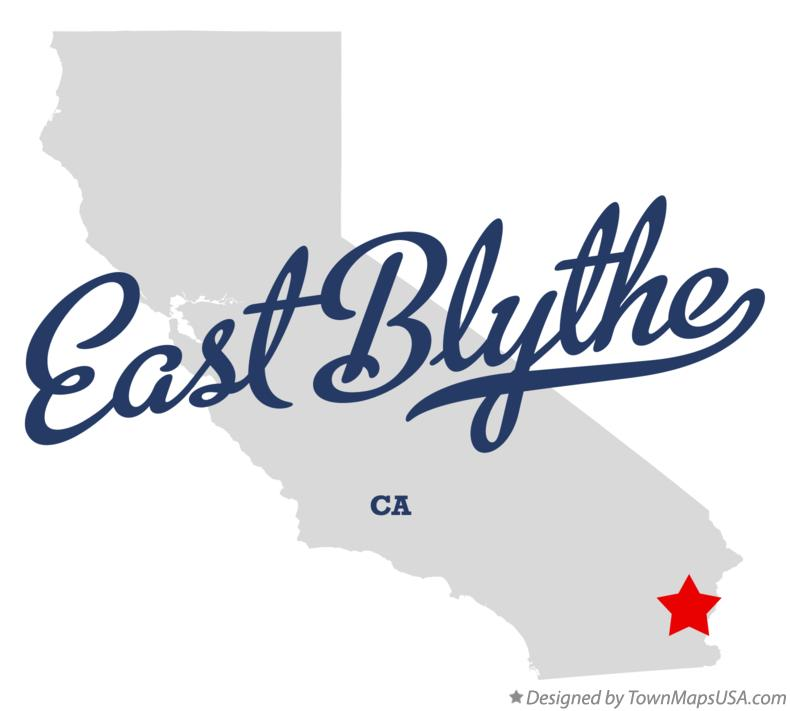 Map of East Blythe California CA