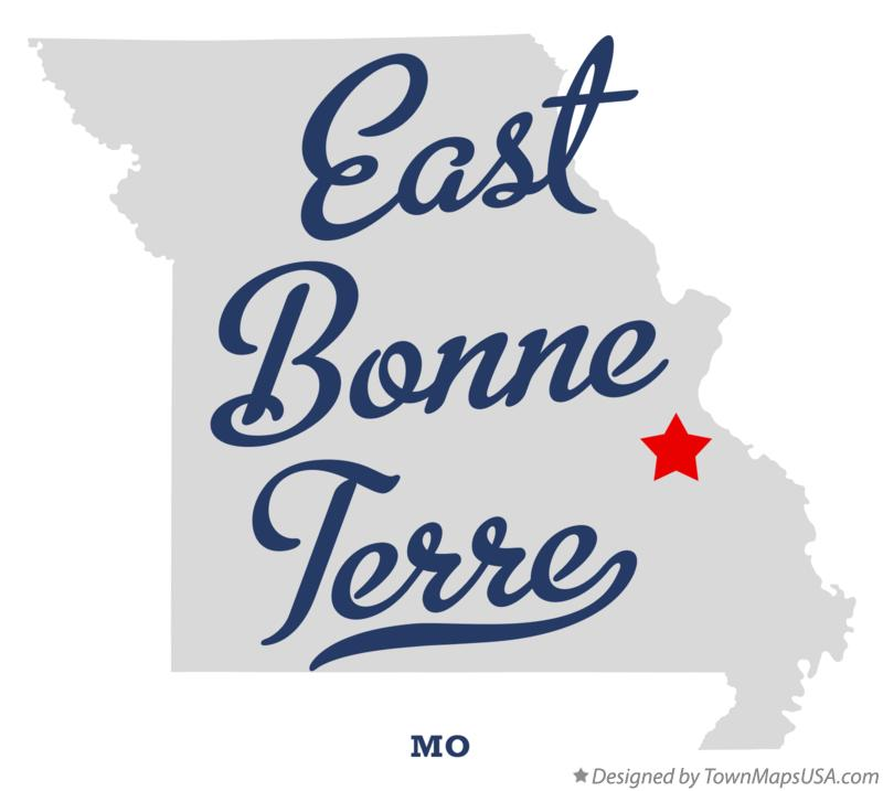 Map of East Bonne Terre Missouri MO