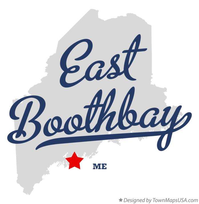 Map of East Boothbay Maine ME