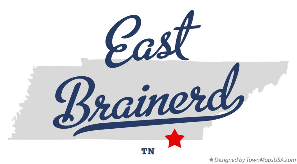 Map of East Brainerd Tennessee TN