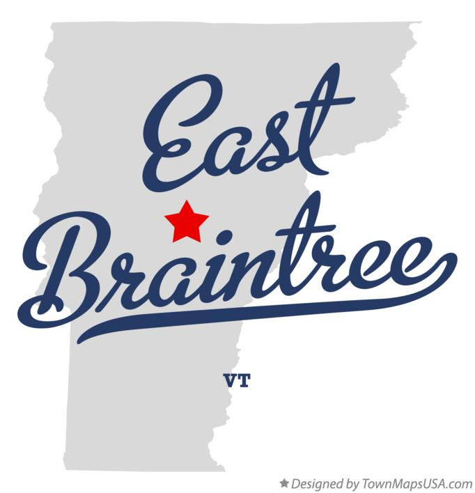 Map of East Braintree Vermont VT