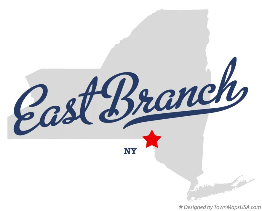 Map of East Branch New York NY