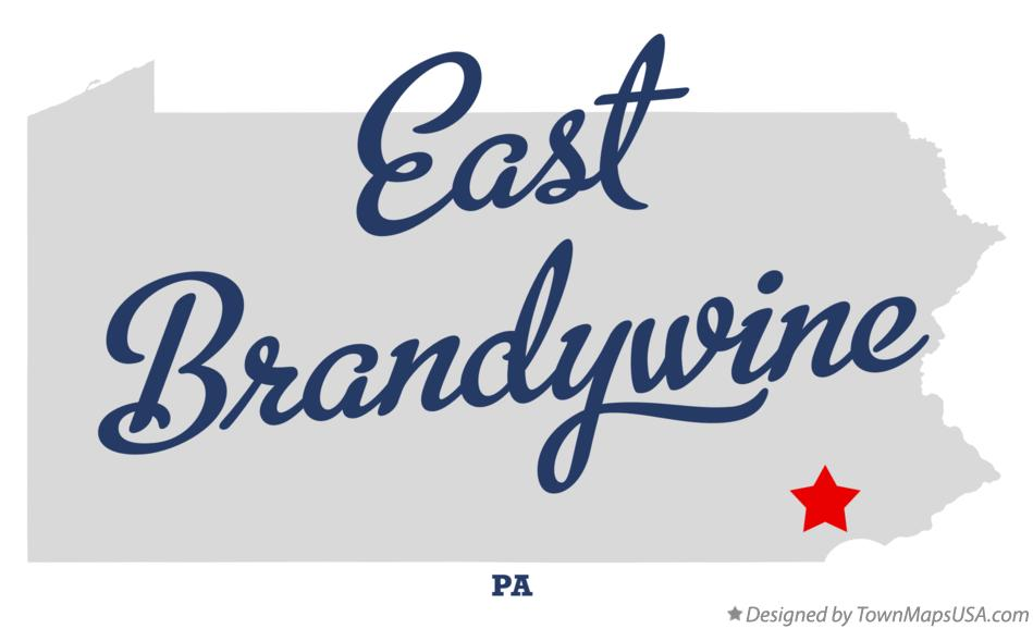 Map of East Brandywine Pennsylvania PA