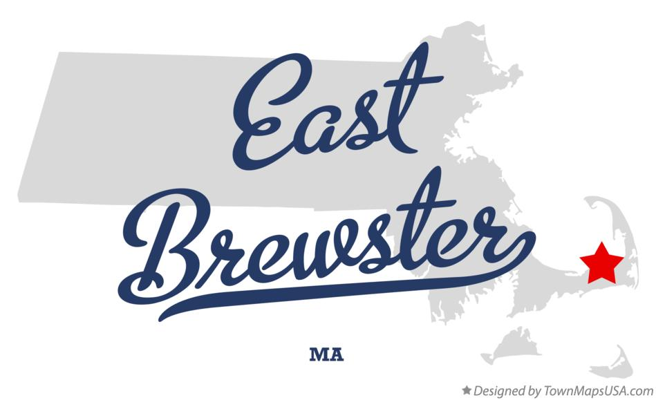 Map of East Brewster Massachusetts MA